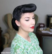 hair bangs - vintage 1940's hairstyle