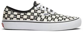 Supreme x Authentic Pro 'Checkered Black' - Vans - VN000Q0DJLW | GOAT