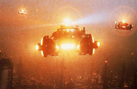 Spinners on Blade Runner's horizon, Kobal Collection