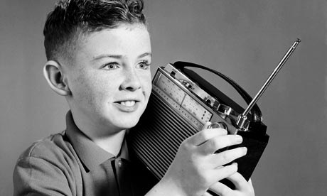 Boy listening to the radio