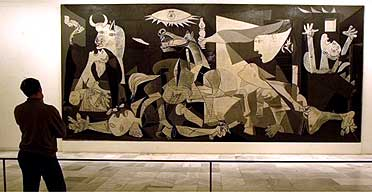 Pablo Picasso's Guernica at the Reina Sofia museum in Madrid