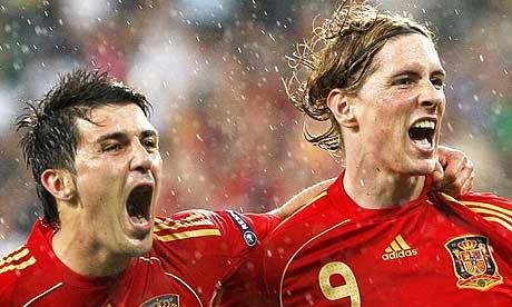 David Villa and Fernando Torres