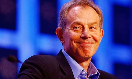 Tony Blair in Davos, Switzerland, last month