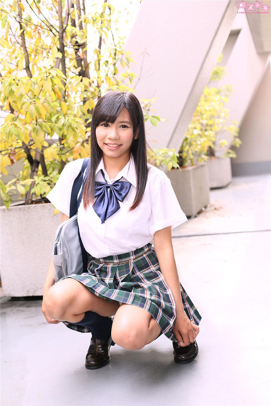 清純可愛學生妹ルナ制服美女寫真圖片 - Cup S