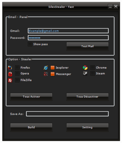 SilexStealer Browser  Steam Password Stealer