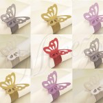 50 Butterfly Napkin Ring Holder Wedding Table Decoration Party Favour Uk Seller Ebay