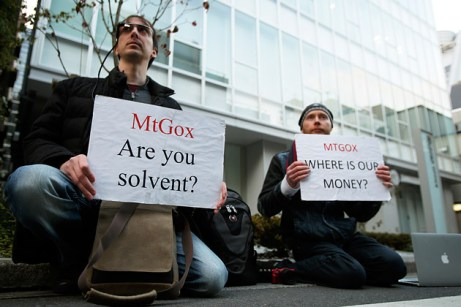 Mt Gox - Where is our money? - Protestors