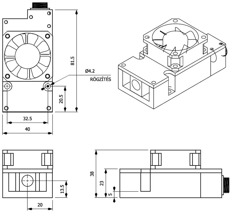 Edge-6W laser module for CNC cutting engraving, only EU