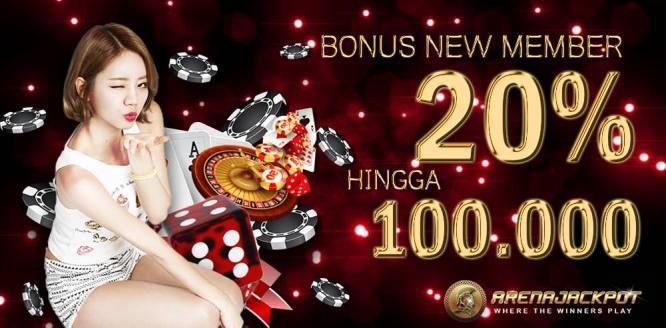 Bonus New Member 20% Poker Online