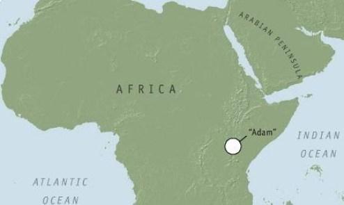 Lokasi asal Adam, penanda genetik tertua yang masih bisa terlacak