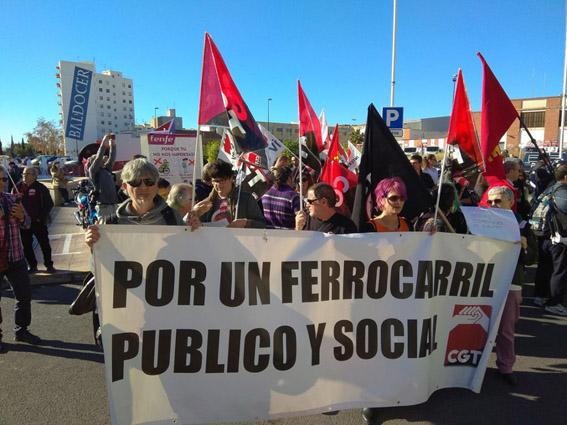 El SFF-CGT anuncia huelgas en Adif y Renfe en defensa del ferrocarril publico social y sostenible
