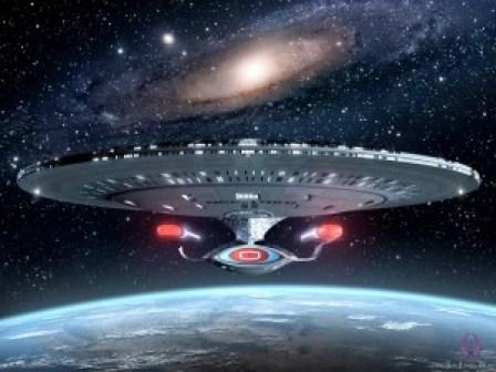 Pesawat penjelajah galaxy seperti dalam film Star Trek
