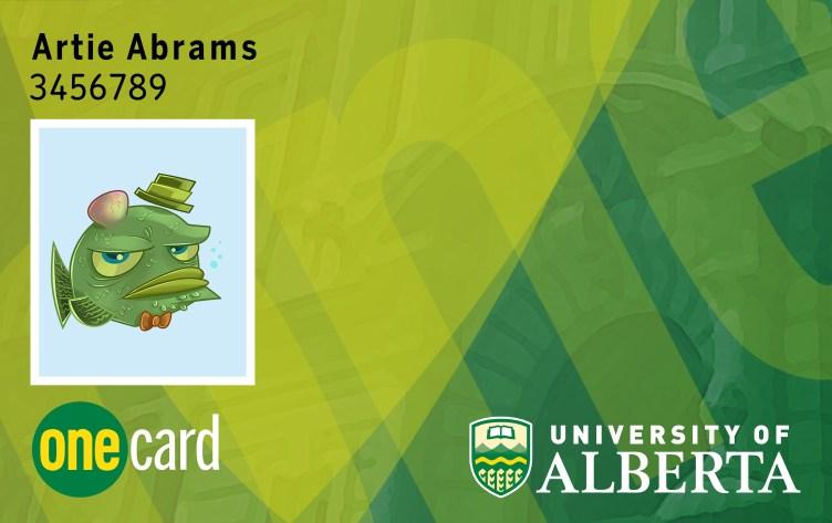 University of Alberta student id card psd template