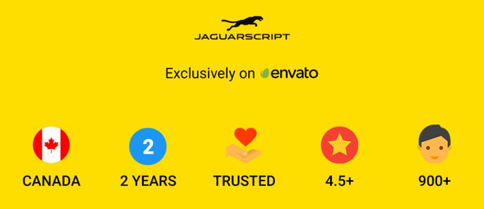 JaguarScript Trusted Af Envato