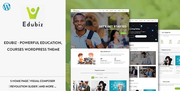 EDUBIZ V1.2 – POWERFUL EDUCATION, COURSES WORDPRESS THEME