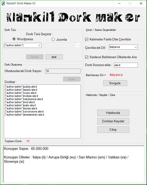 Klankil1 Dork Maker V2