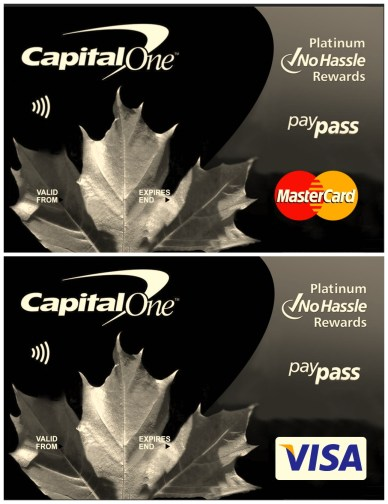 Capitol One Visa+Master Card Credit PSD Template