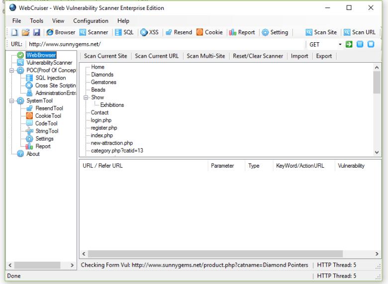 WebCruiser Vulnerability Scanner Portable