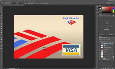 Bank of America Credit Card VISA PSD Template