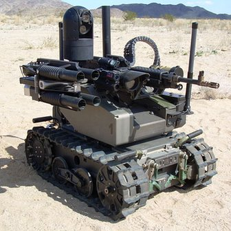 Robot pembunuh di medan perang yang mampu mengenali lawan dan membunuhnya