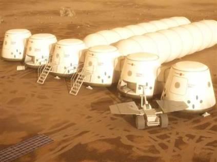 Pemukiman awal manusia di Mars