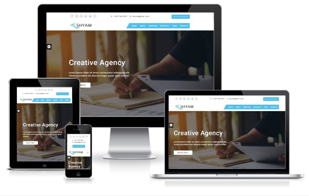 shyam - One Page Corporate Responsive HTML Template - 1