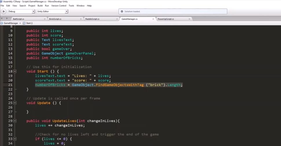 Unity GameDev Tutorial for Beginners: Brick Breaker Game