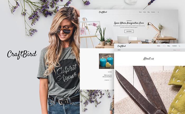 Handmade Artist best premium WordPress themes for your blog or website.