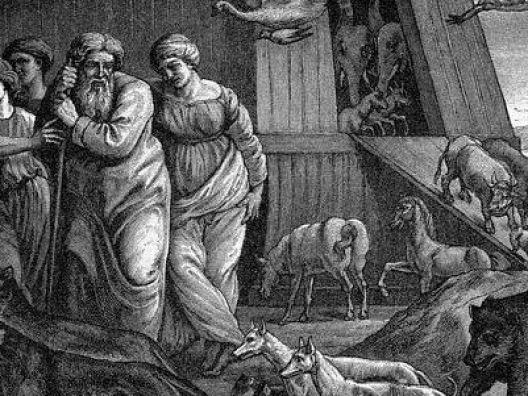 Nabi Nuh dan pengikutnya naik bahtera