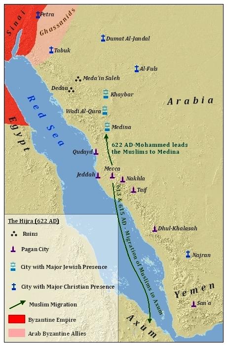 2 hijrah pengikut Muhammad. Ke Ethiopia dan ke Madinah