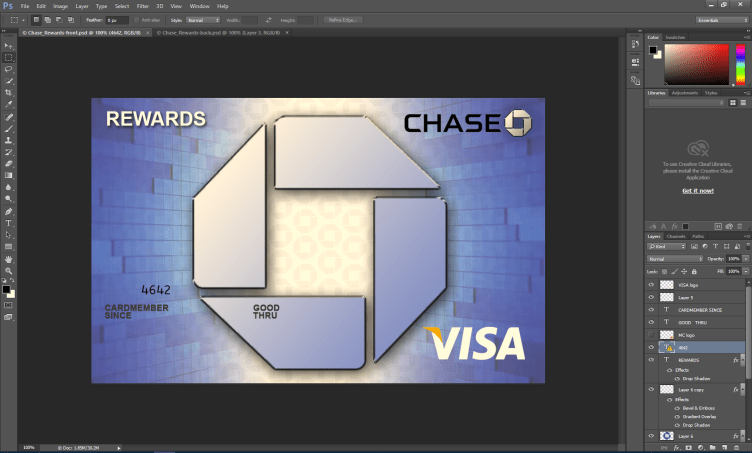 Chase Credit Card PSD Template