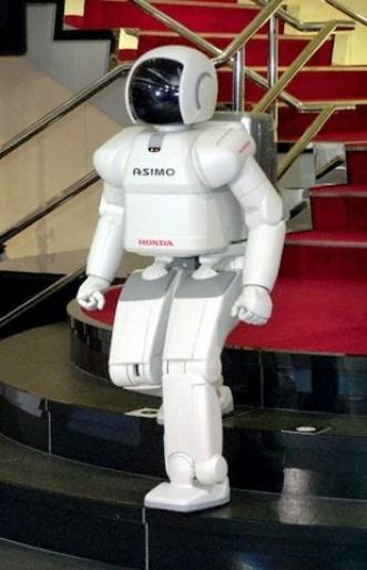robot Asimov berjalan menuruni tangga, butuh jutaan dolar untuk bisa hal ini