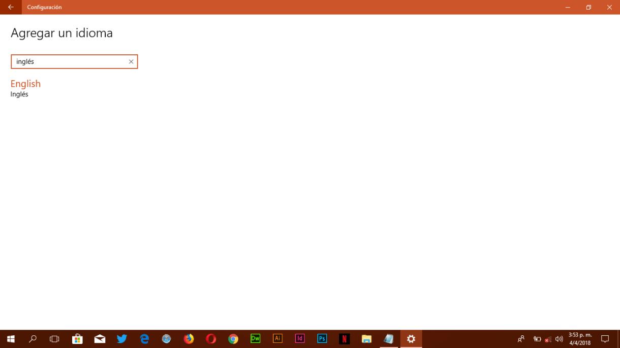 Configuración de Idioma de Teclado - Búsqueda correctar