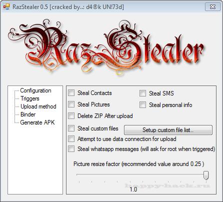 RazStealer 0.5 Android Cracked