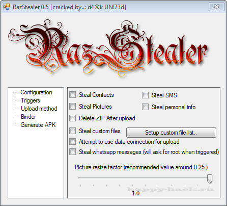 RazStealer 0.5 Android Cracked
