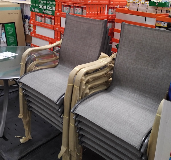 costco patio table and chairs on