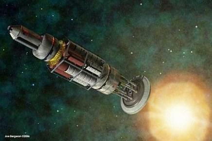 Dengan Nuclear Pulse Propulsion, kita bisa capai bintang terdekat, Alpha Centauri dalam 85 tahun