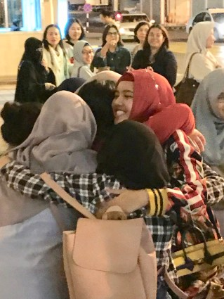future generation role model girls hijab hijaber hug