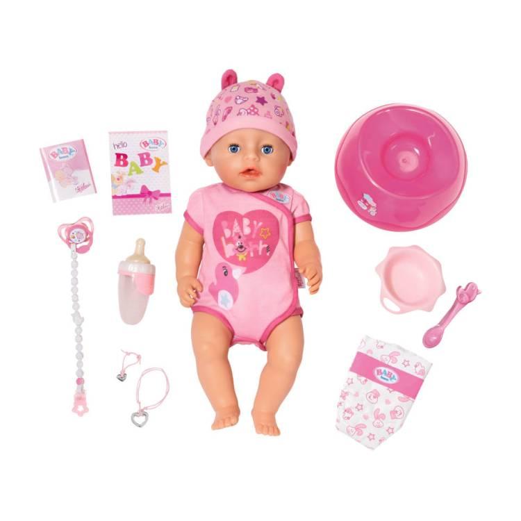 BABY born soft touch pop meisje - roze