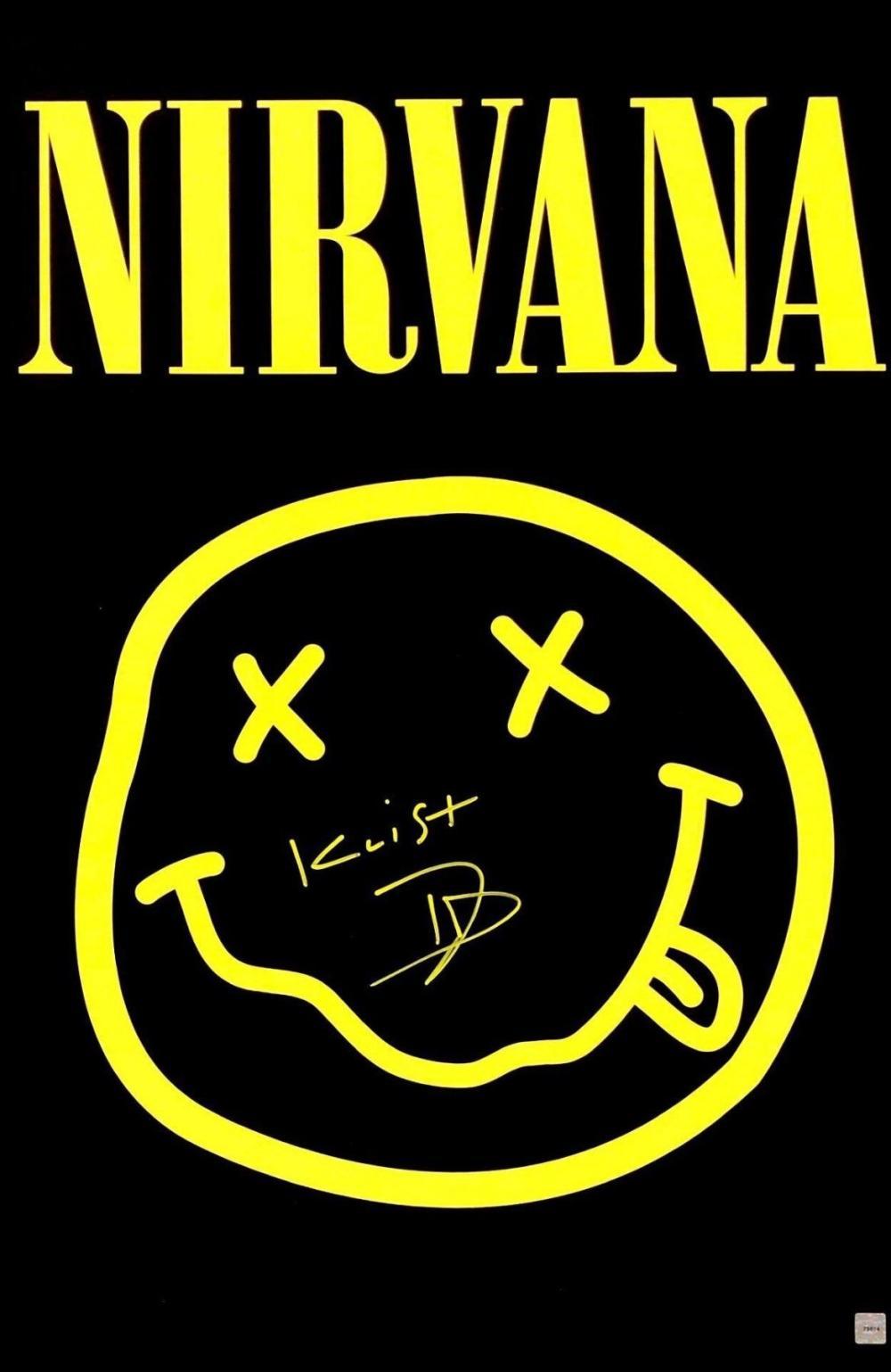 signed nirvana poster