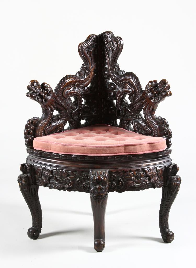 wooden corner chair ergonomic guitarists chinese autumn wood lot 209
