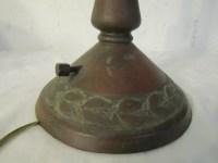 HANDEL PANELED GLASS LAMP