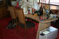 Large single plank table and 4 chairs