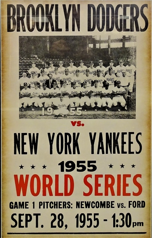 1955 BROOKLYN DODGERS VS NY YANKEES WORLD SERIES