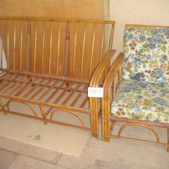 Bamboo Couch And Chairs Plastic Outside Chair Vintage Lot 384f