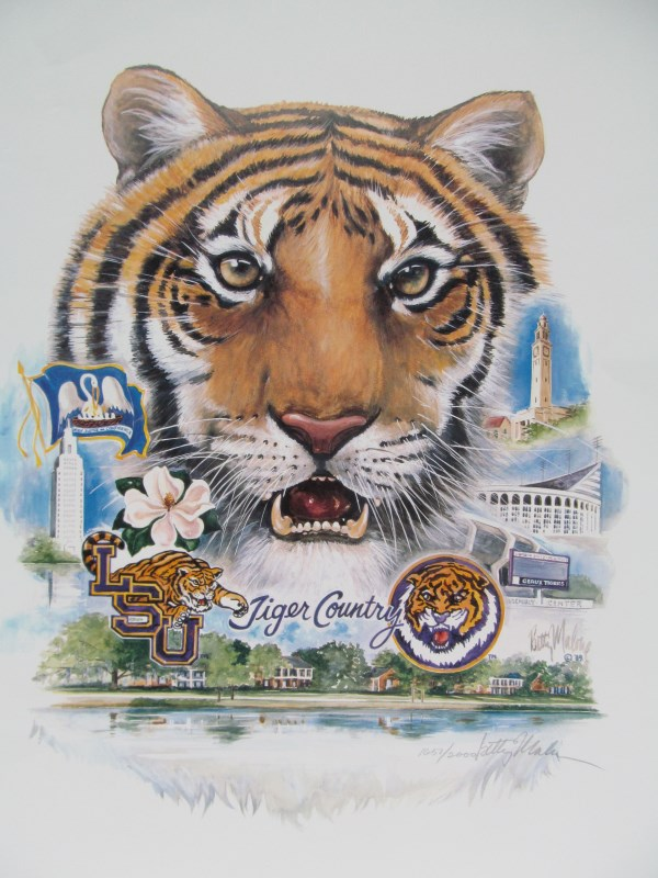 75 Limited Edition 16572000 LSU Tiger Country Signed Be