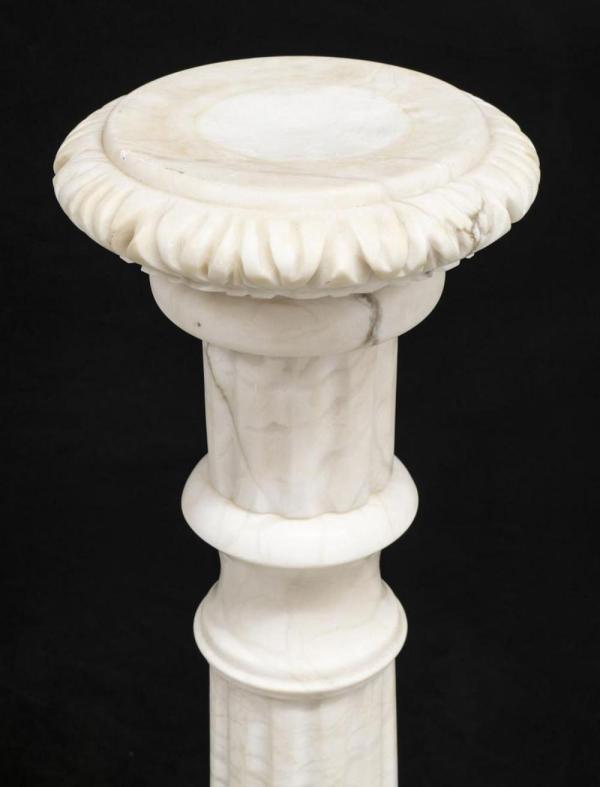 Continental Alabaster Column Plant Stand Pedestal