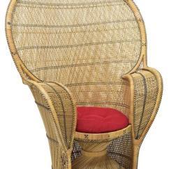 Rattan Peacock Chair Wheelchair Photo Natural Black Woven Lot 117
