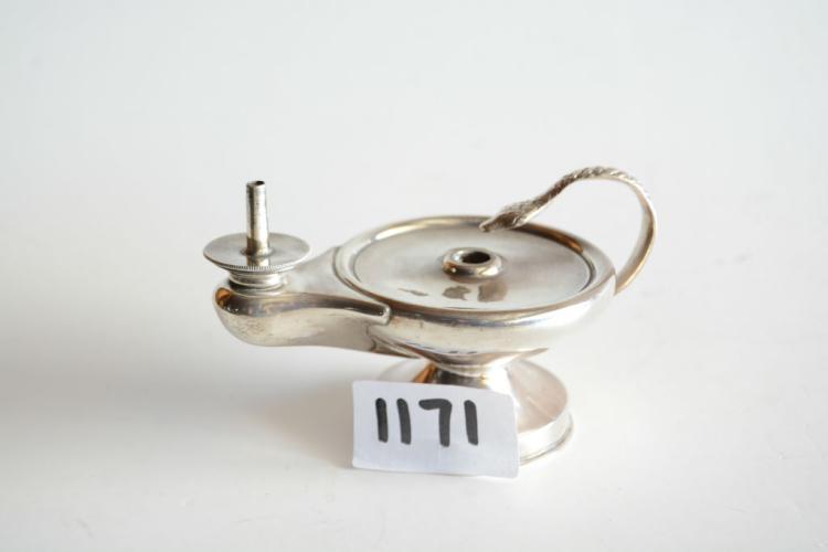 Sterling silver oil lamp