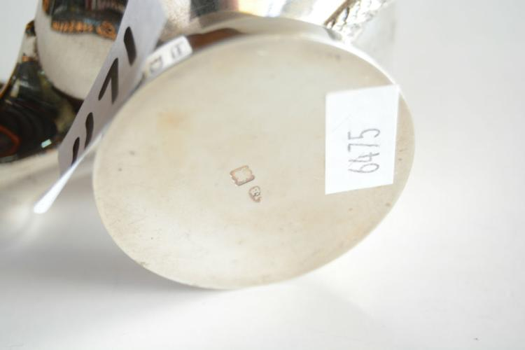 Sterling silver oil lamp